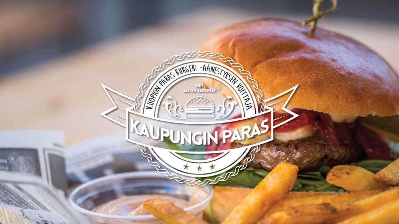 Konttiravintola Mortonin burgeri palkittiin Kuopion parhaana.