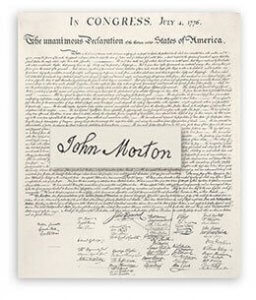 Declaration of Independence. Image: The John Morton Project